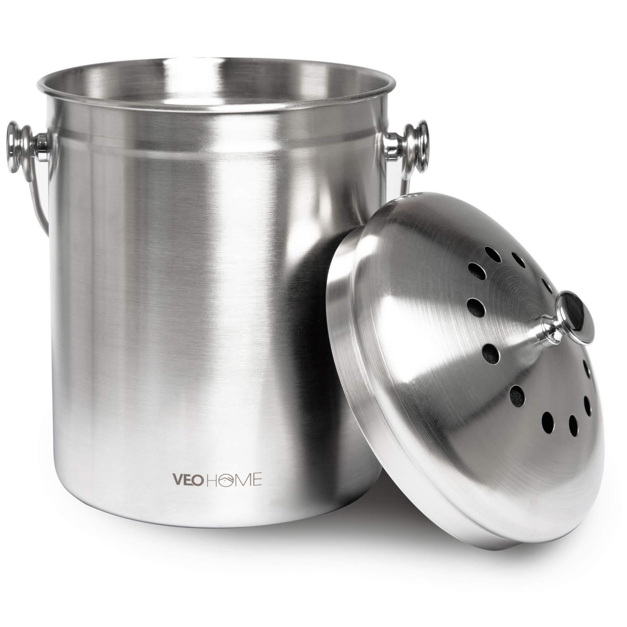 Poubelle A Compost Bac Pour Dechets Organiques En Cuisine Veohome
