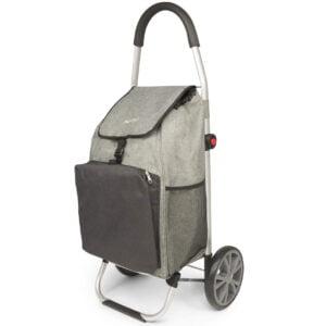 Chariot de course – Caddie- Cabas à roues pliable avec compartiment isotherme